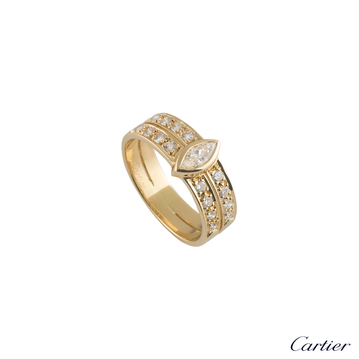 Cartier Yellow Gold Diamond Ring